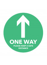 One Way Arrow - Green Floor Graphic (Circle)