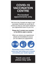 COVID-19 Vaccination Centre - Roller Banner